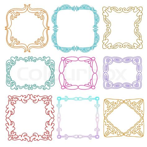 how to draw doodle frames photo frames set style design elements drawing