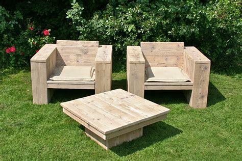 meuble de jardin bois meubles de jardin en bois recycl 233 meubles en bois recycl 233