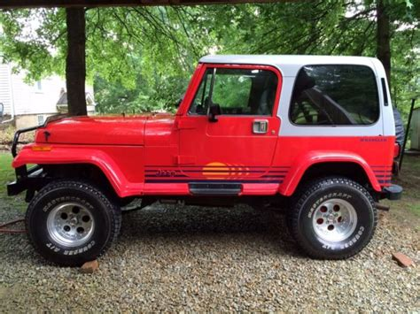 jeep islander yj 1989 jeep wrangler islander sport utility 2 door 360 amc
