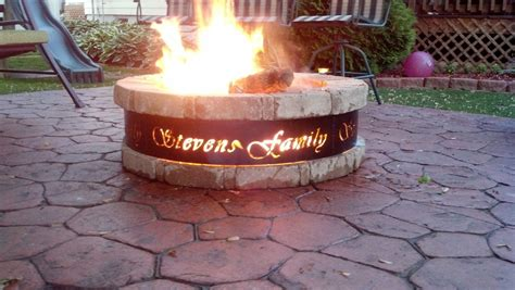 custom rings for pits custom pit ring fireplace design ideas