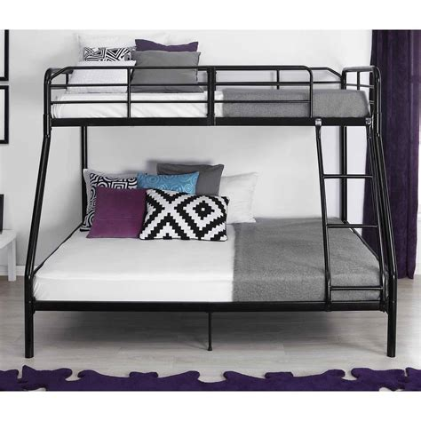 twin or full bed mainstays twin over full bunk bed walmart com