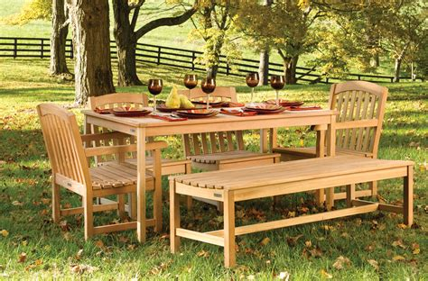 Wood For Outdoor Furniture by 23 Teak Patio Furniture