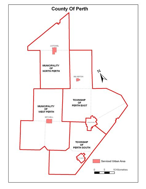 gis program background ontario county maps township of perth south