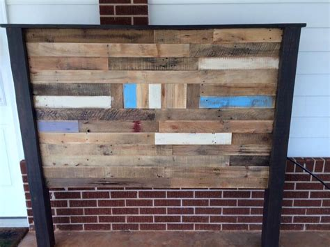 headboards made of pallets pallet queen size headboard 99 pallets