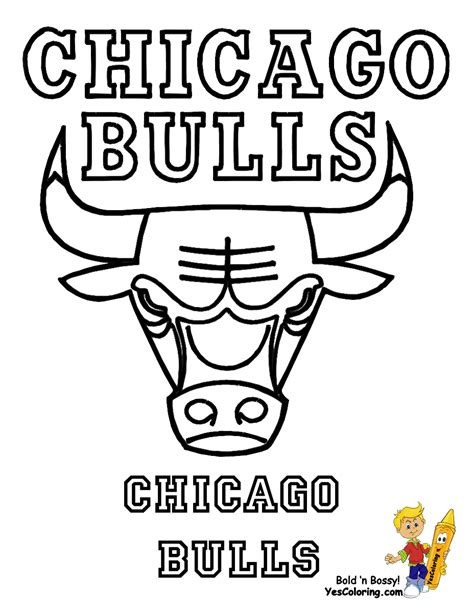 Nba Bulls Coloring Pages | nba coloring pages