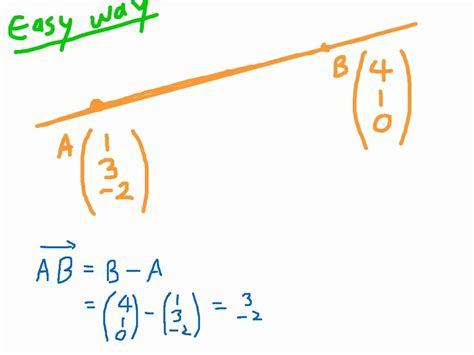 Find Line How To Find The Vector Equation Of A Line