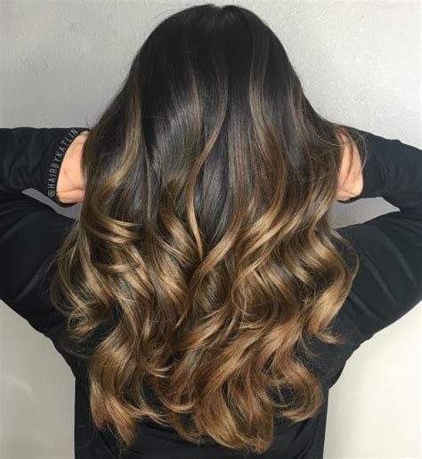 balayage ombre highlights on dark hair 90 balayage hair color ideas with blonde brown and