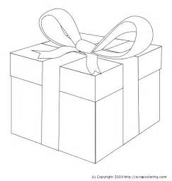 present color sheet gift wrapped present coloring page