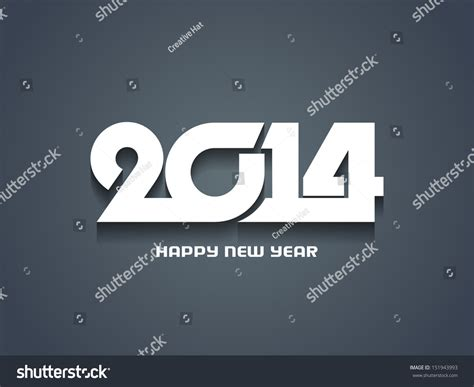 creative happy new year 2014 creative happy new year 2014 design stock vector