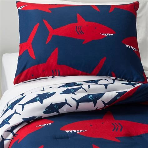 shark bedding full great white get together comforter set twin 2 pc