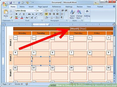 make a calendar of events how to create an event calendar in microsoft word 2008 7