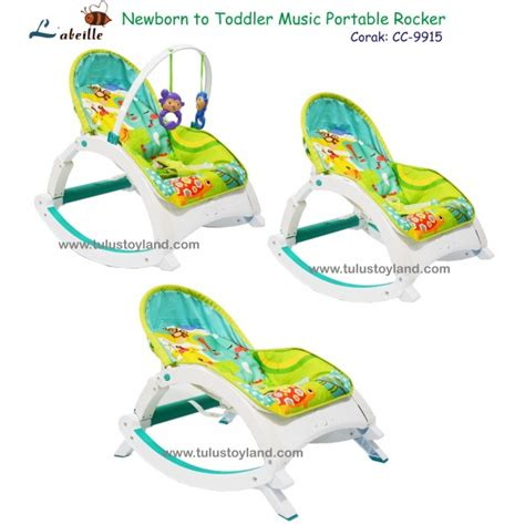 l abeille newborn to toddler portable rocker kursi rocker bayi