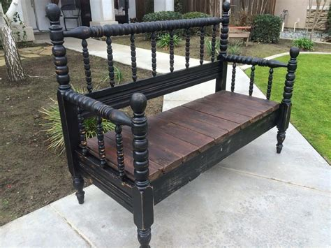 bench from headboard and footboard repurposed headboard footboard bench by starkswoodrescue