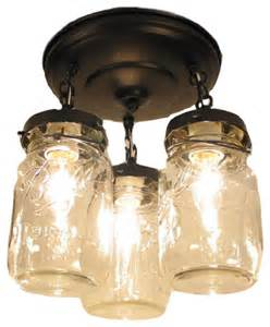 Jar Kitchen Lighting Vintage Jar Ceiling Light Trio Rubbed Bronze