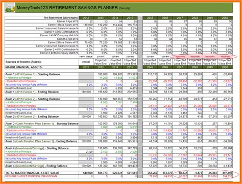 retirement excel template 9 retirement savings spreadsheet excel spreadsheets