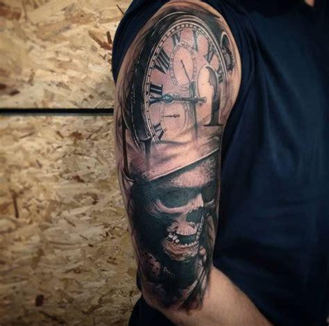 skull half sleeve tattoo designs pocket skull half sleeve best design ideas