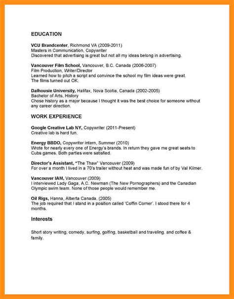 Paste Resume In Of Email by Copy And Paste Resume Exles Memo Exle