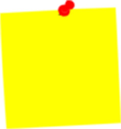 yellow post it clip at clker vector clip royalty free domain