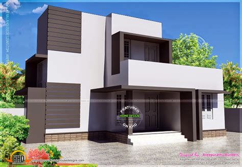 simple contemporary home design kerala home design simple modern house in 88 square meter home kerala plans