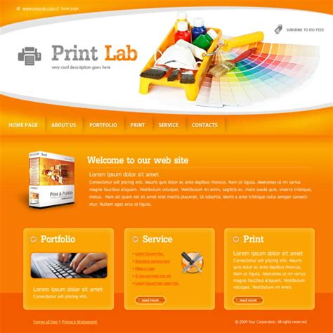 print lab website template 6028 art photography