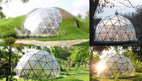 Teh Eco Gelas biodomes glass geodesic domes modern sustainable homes