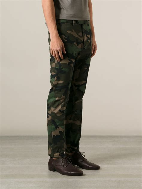 Oakley Icon Green Barret lyst valentino camouflage leg trousers in green