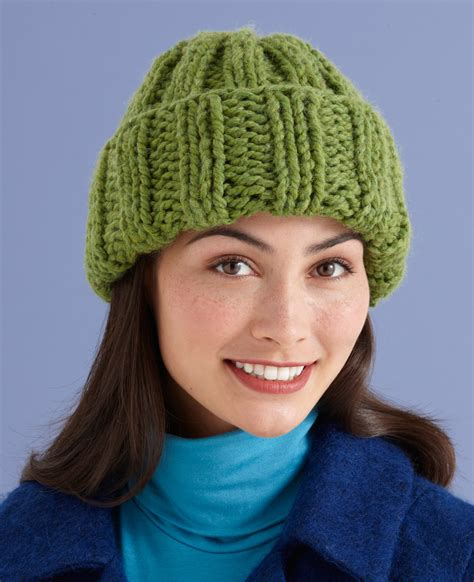 knit hat pattern thick yarn solstice hat in lion brand wool ease thick quick