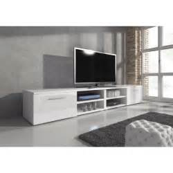 reno meuble tv contemporain d 233 cor blanc 240 cm achat