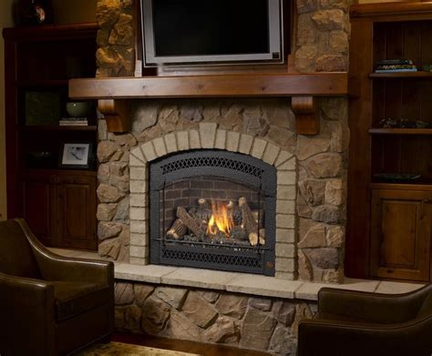 Travis Fireplace by Fpx 864 High Output Greensmart Gas Fireplace Traditional