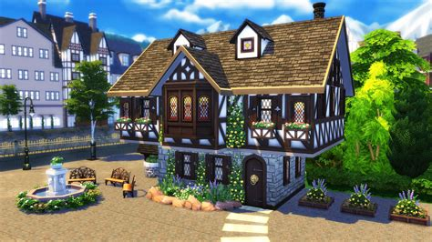four house the sims 4 build tutorial how to build a tudor house sims community