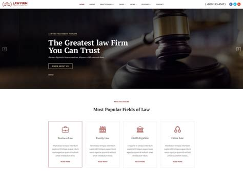 Law Firm Service Responsive Html Website Template Ease Template Firm Responsive Website Template