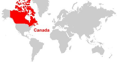 map of the world canada canada map and satellite image