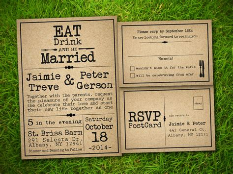 rustic wedding invite template etsy template1