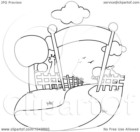 zoo background coloring page royalty free rf clip art illustration of a coloring page