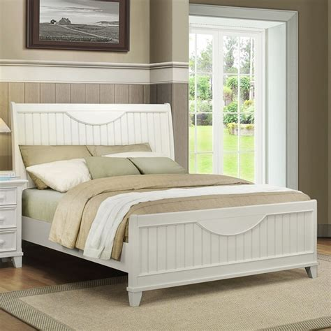 White Beadboard Bedroom Furniture by Tribecca Home Alderson Cottage White Beadboard Crescent