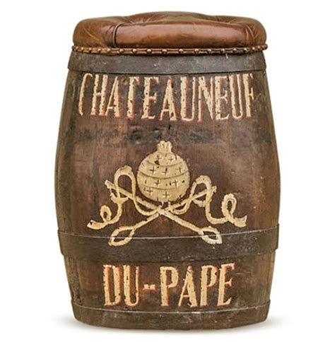 wine barrel ottoman chateauneuf du pape vintage style wine barrel leather