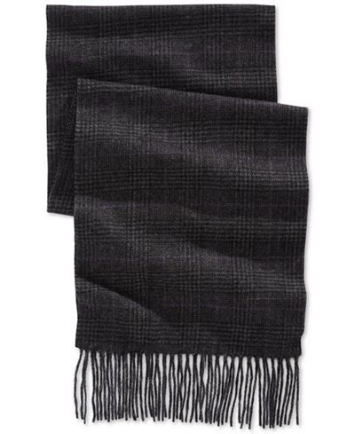club room plaid scarf only at macy s hats
