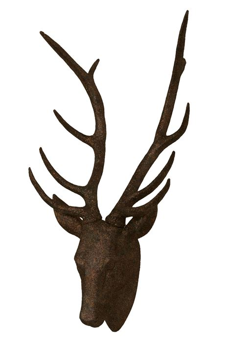 stag head home decor rust faux deer head rust stag modern home decor