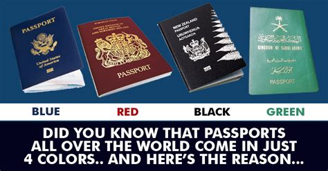 passport colors this is why passports of all the countries in the world