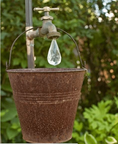 Recycled Garden Accessories Garden Decor Water Faucet Recycled Crafts
