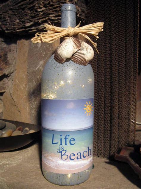 diy light up wine bottle life is a beach decorative light up wine bottle with