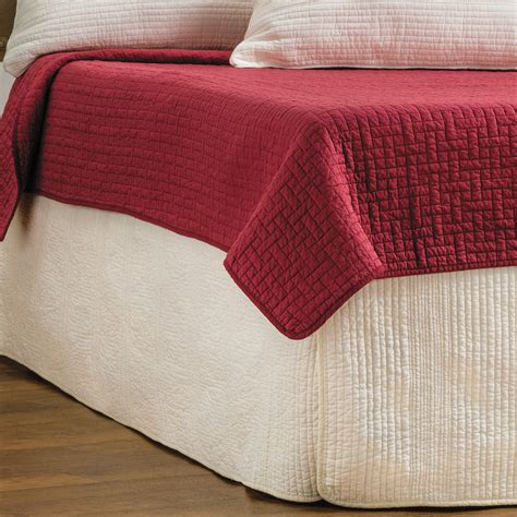 hill home winslet quilted bed skirt king 5770t