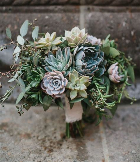 Wedding Bouquet With Succulents by 75 Succulent Wedding Bouquets Happywedd