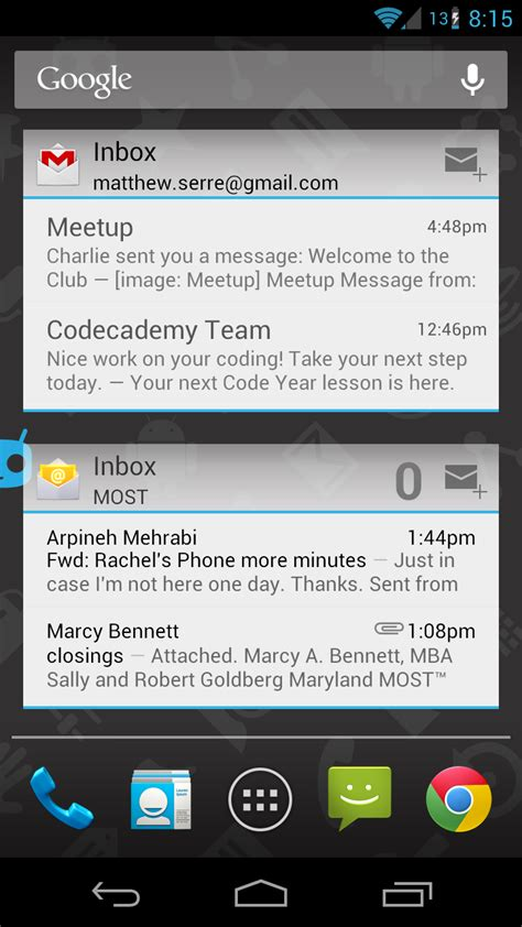 email widgets for android top 10 best free widgets for android droid lessons