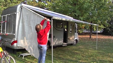 fiamma awning sides sun view side on fiamma f45 l youtube