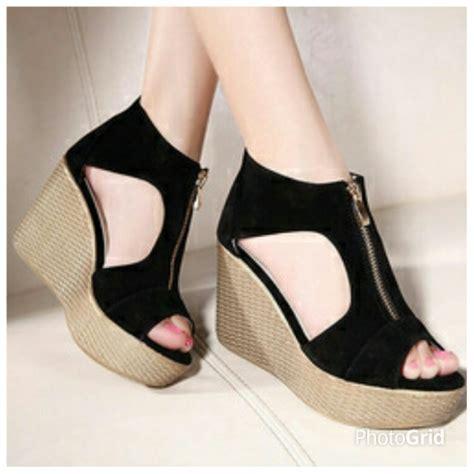 Sepatu Sandal Flat Wanita Cewek Trendy Terbaru Murah Sh 6132 wedges terbaru sepatu sandal wanita murah dan cantik
