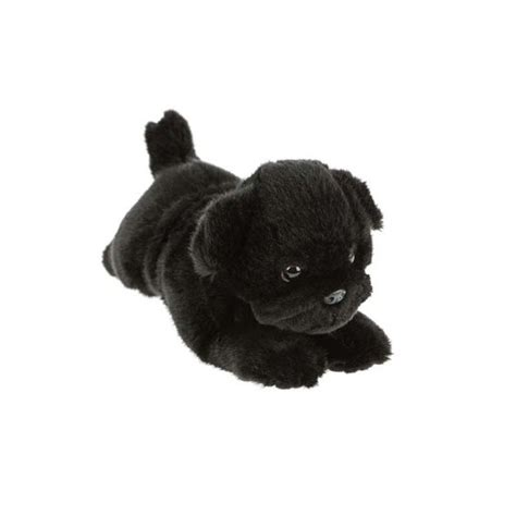black pug soft black pug puddles 28cm soft plush stuffed animal bocchetta plush toys