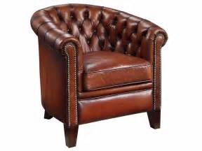 chesterfield tub chair in dyed leather