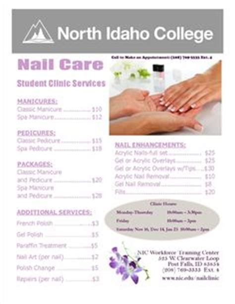 1000 Images About Nail Services On Pinterest Nail Services Tri Fold Brochure Template And Pedicure Menu Template