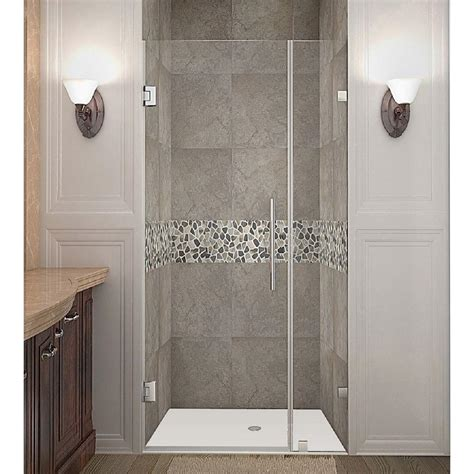 Clear Glass Shower Doors Vigo Elan 72 In X 74 In Frameless Bypass Shower Door In Chrome With Clear Glass Vg6041chcl7274